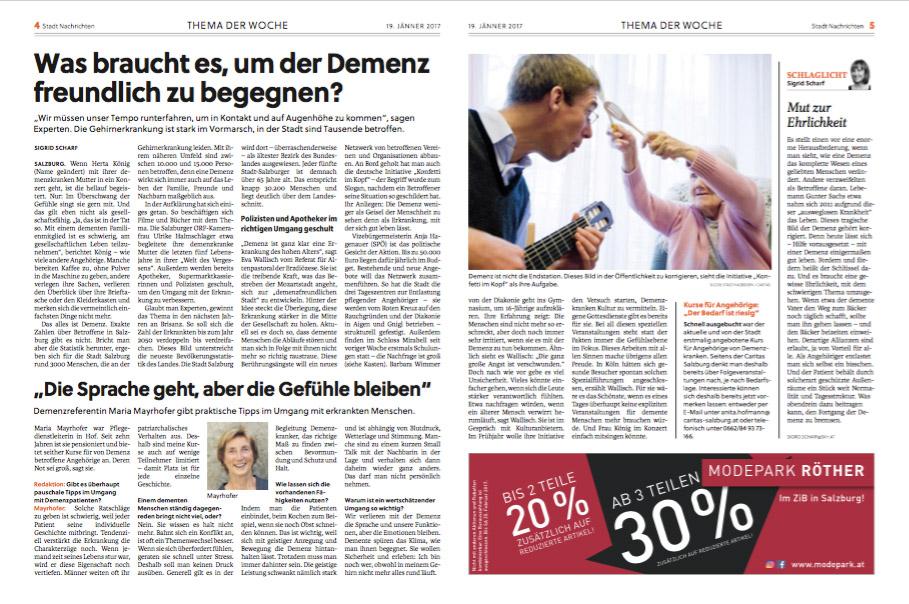 Konfetti im Kopf in den Salzburger Stadt Nachrichten